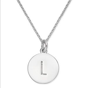 "♠️ Kate Spade silver ""L"" necklace"